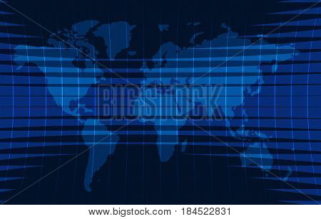News background, breaking news, vector infographic with news theme map of the world. Vector illustration.