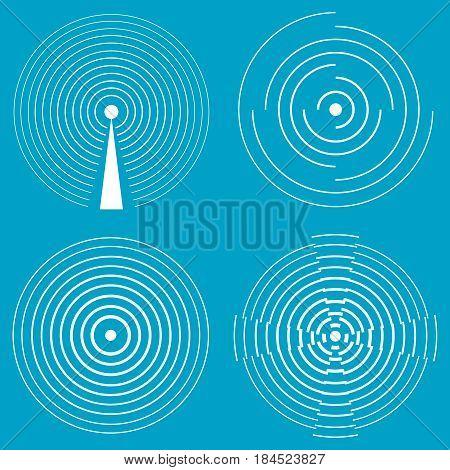 Wi-fi signal communication signal radio. Flat design vector illustration vector.