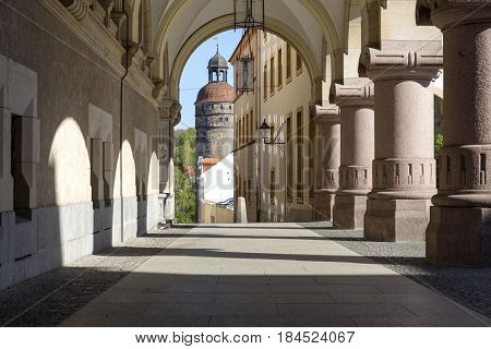 Historic Arcades in the town of Goerlitz, Germany