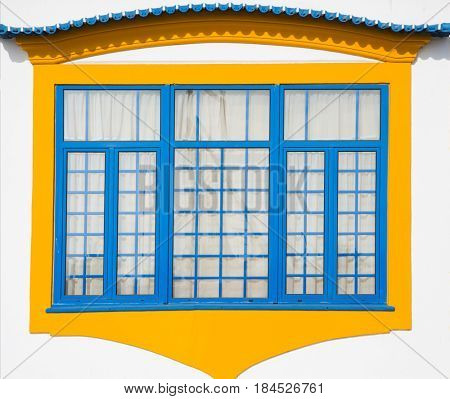 Traditional window in Aveiro, Portugal