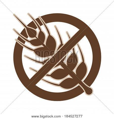 Gluten free food icon vector illustration graphic design