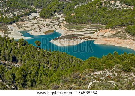 Guadalest Lake Valley view, Alicante, Costa Blanca, Spain