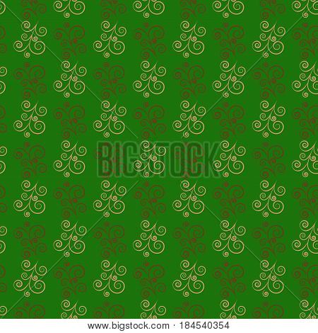 Green twig seamless pattern. Fashion graphic background design. Modern stylish abstract texture. Colorful template for prints textiles wrapping wallpaper website etc. Flat image