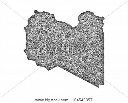 Map Of Libya On Poppy Seeds