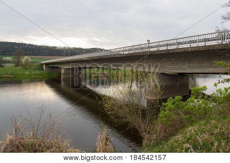 a bridge over the river Naab next to Schwandorf in bavaria