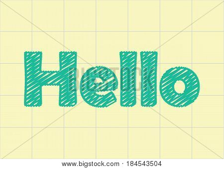 hello word in the notebook paper, scratch