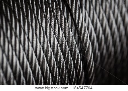 clean new steel cable steel wire or steel rope rope sling drum.