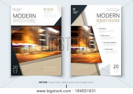 Cover design for brochure, flyer, report, catalog, presentation, poster. Modern layout template in A4 size