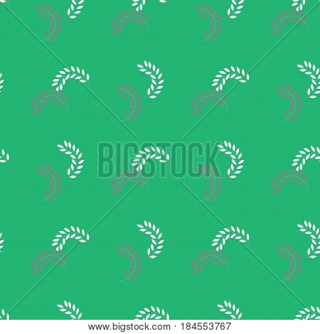 Twig on green background. Fashion graphic background design. Modern stylish abstract texture. Colorful template for prints textiles wrapping wallpaper website etc. Vector illustration