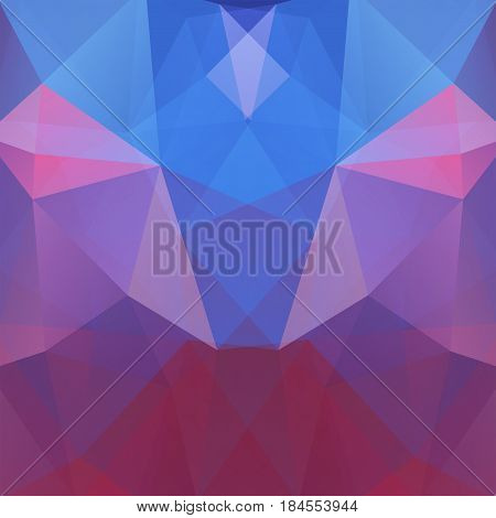Abstract Background Consisting Of Blue, Pink, Purple Triangles. Geometric Design For Business Presen