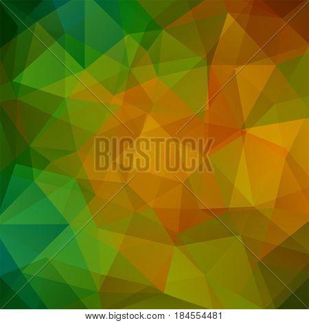 Background Of Geometric Shapes. Mosaic Pattern. Vector Eps 10. Vector Illustration. Yellow, Orange,
