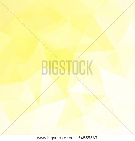 Geometric Pattern, Polygon Triangles Vector Background In Yellow, White Tones. Illustration Pattern.