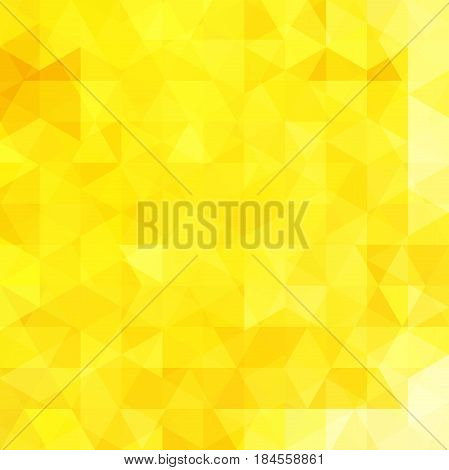 Abstract Vector Background With Triangles. Yellow Geometric Vector Illustration. Creative Design Tem