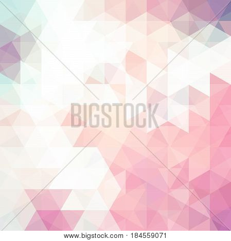 Abstract Background Consisting Of Pastel Pink, White Triangles. Geometric Design For Business Presen