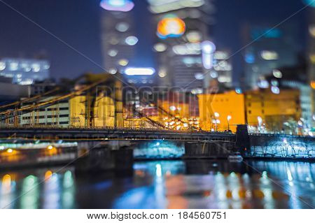 pittsburgh pennsylvania city skyline at night views