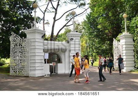 Istana Grounds Is Open To The Public In  Labour Day