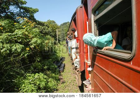 The Train To Kandy On Sri Lanka