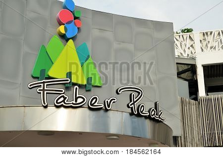 Sign Of Faber Peak In Singapore