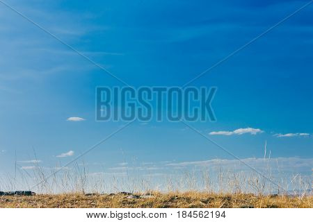 blue sky cloud grassland in inner mongolia China