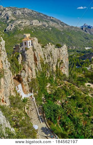 Guadalest Castle (El Castell de Guadalest), one of Spain's most visited castle located in Alicante province