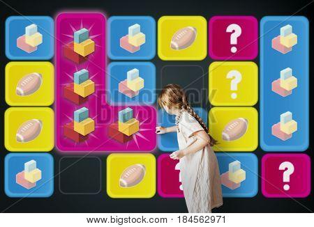 Blocks Toy Bricks Rugby Secret Question Matching