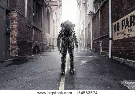 Astronaut that landed in city