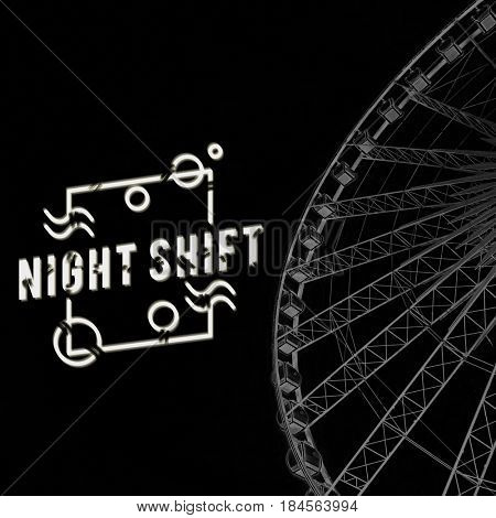 Ferris Wheel Night Amusement Attraction