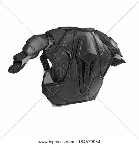 Hockey Shoulder Pads on white background. 3D illustration