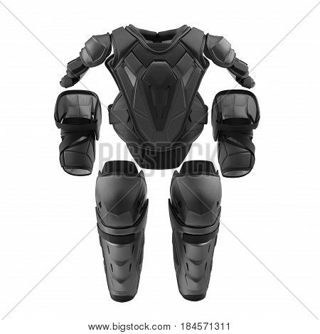 Hockey Protective Gear Kit on white background. Front view. 3D illustration