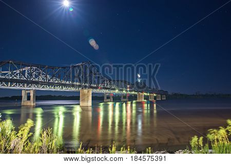 a bridge across mississippi river near vicksburg