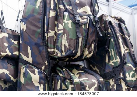 Bags and backpacks for hunting in the hunting and fishing store