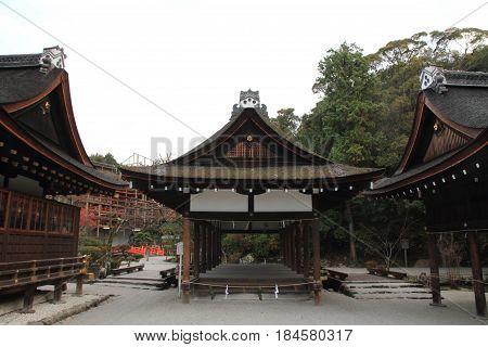 Dance Hall Of Kamigamo Shrine In Kyoto, Japan