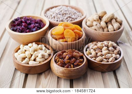 bowls full of dried fruits - healthy eating