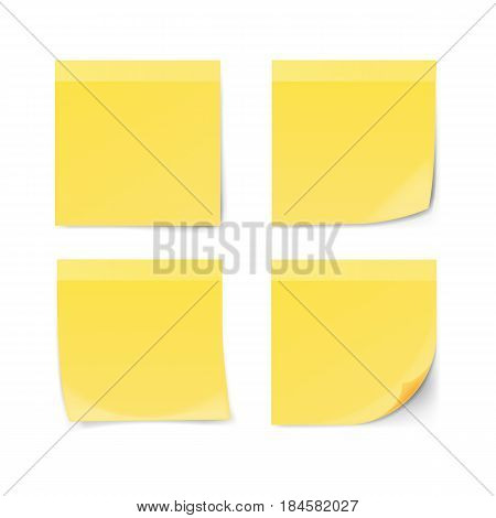 Adhesive Notes isolated on white background. Vector illustration.