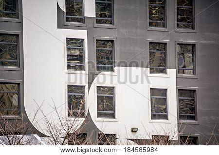 abstract architectural elements in a major city