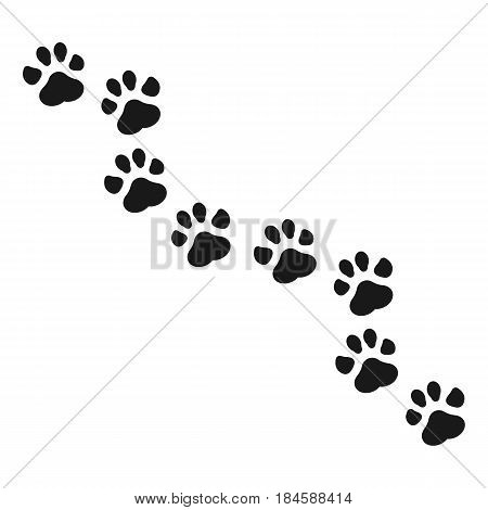 Paw Print isolated on background. Vector illustration. Eps 10.