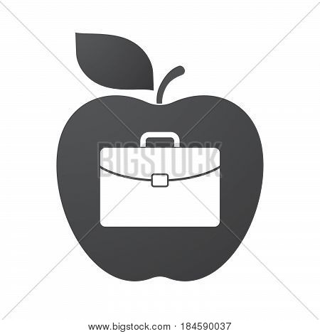 Isolated Apple Fruit With  A Briefcase