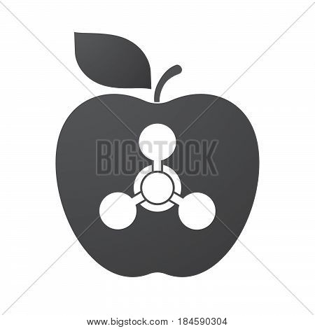 Isolated Apple Fruit With A Chemical Weapon Sign