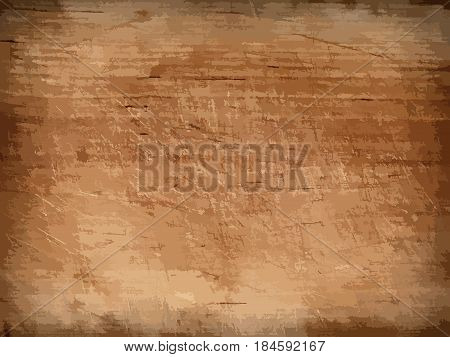 Dark brown wooden wall, table, floor surface. Aged board. Vector wood texture