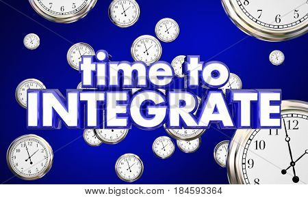 Time to Integrate Clocks Falling Integration 3d Illustration