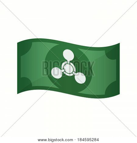 Isolated Bank Note With A Chemical Weapon Sign