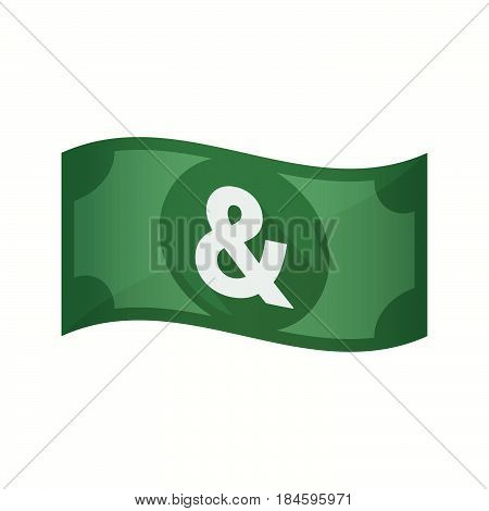 Isolated Bank Note With An Ampersand