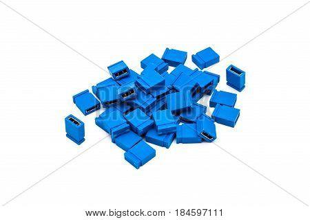 Pile Of Blue Short Circuit Cap Jumper