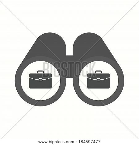 Isolated Binoculars With  A Briefcase