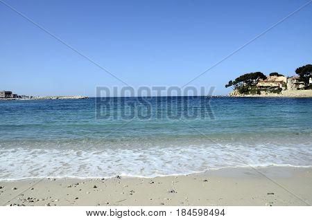 Renecros Beach In Bandol, France