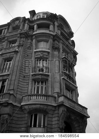 A building in haussmann style in Rouen