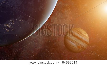 Solar System - Jupiter. Science Background.