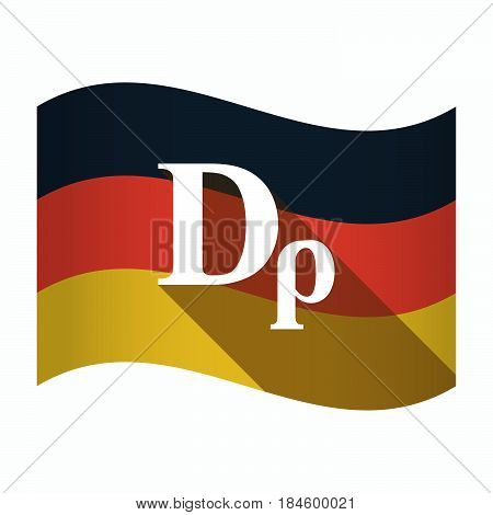 Isolated Germany Flag With A Drachma Currency Sign