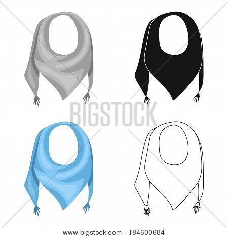 blue summer bandana from the sun.Bandana with knots on the ends.Scarves and shawls single icon in cartoon style vector symbol stock web illustration.