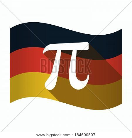 Isolated Germany Flag With The Number Pi Symbol